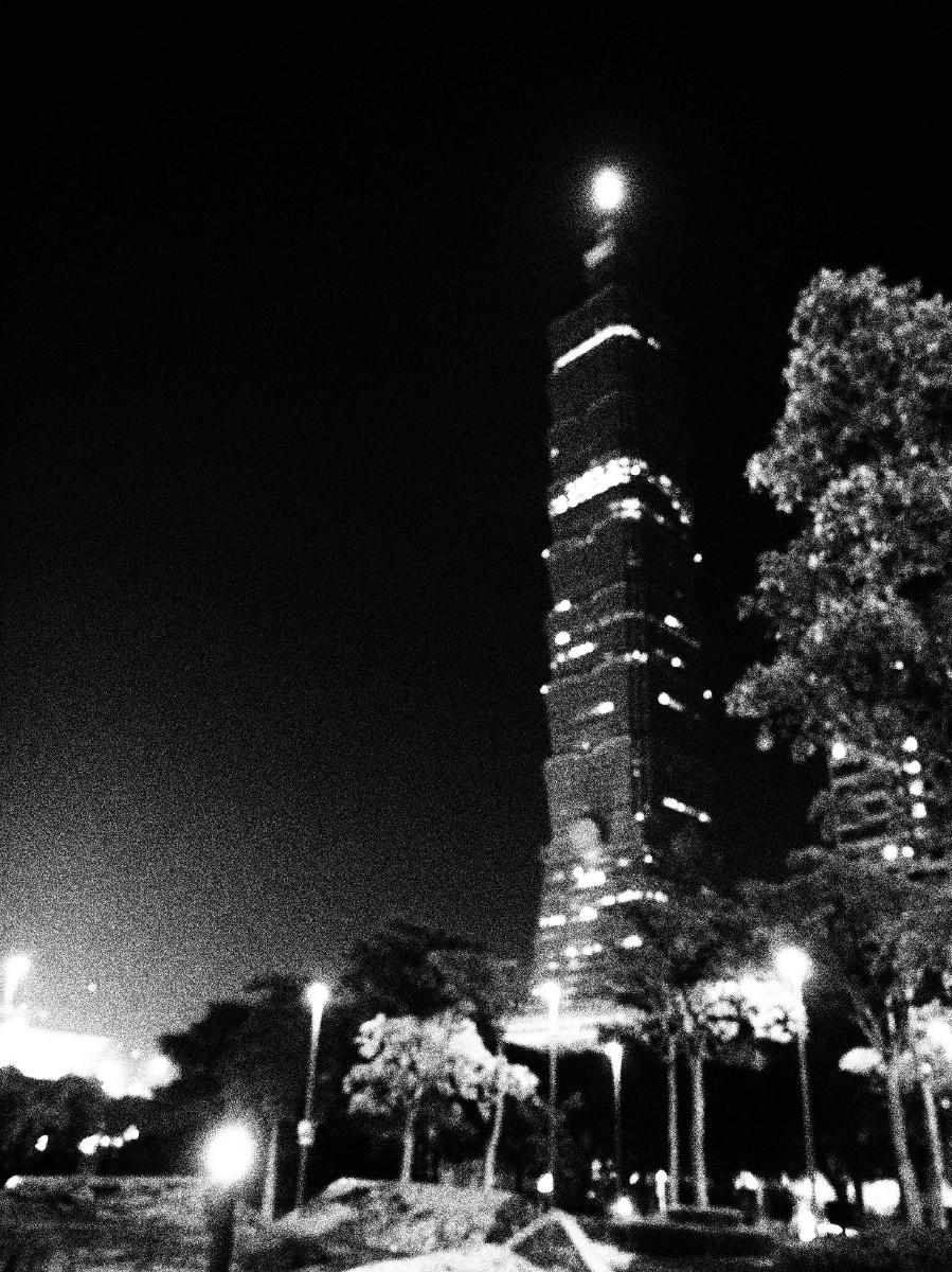 Taipei 101, de nuit