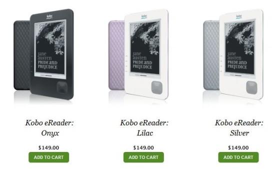 Kobo lance un nouveau lecteur de livres électroniques (avec Wi-Fi) .