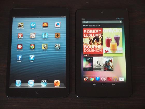 Ipad mini vs nexus 7 quelle est la meilleure petite - Quelle est la meilleure tablette ...