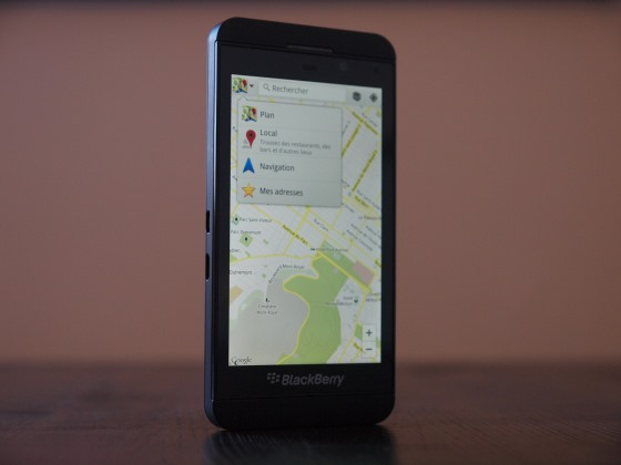 Google Maps on BB10