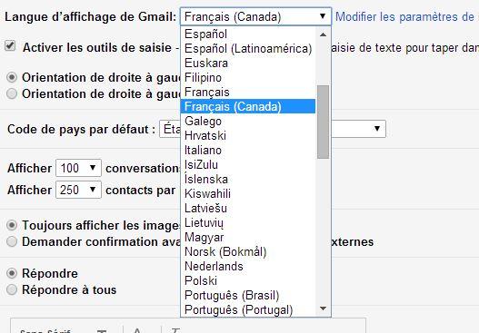 Gmail maintenant offert en qu b cois - Office de la langue francaise ...